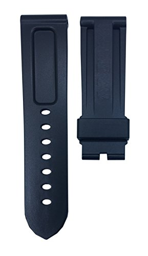 Black Diver Watch Strap Replacement Band For Luminor 24mm | Free Spring Bar Tool by WatchBandHouse (Image #2)