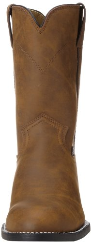 "Justin Boots Men's 3001 Farm & Ranch 10"" Boot Roper Toe Rubber Outsole,Crazy Cow,9.5 EE US"
