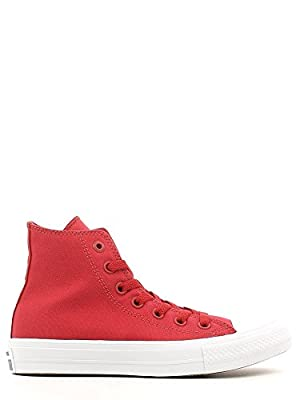 Converse Unisex Chuck Taylor All Star II Hi Salsa Red/White/Navy Sneaker