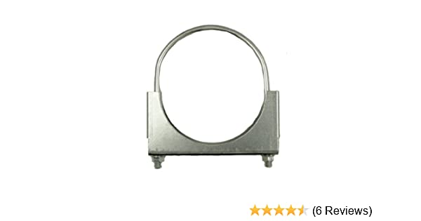 SmartParts 320600 6 Butt Joint Stainless Steel Exhaust Clamp with I Block