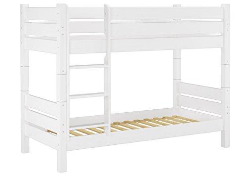 Etagenbett Liegefläche 80 180 : Erst holz® etagenbett extra stabil 80x190 weiß nische 80 cm