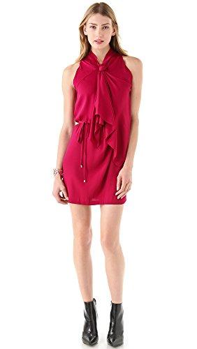 Von Silk Furstenberg Diane Tie (Diane von Furstenberg Women's Morana Tie Dress, Dark Raspberry, 6)