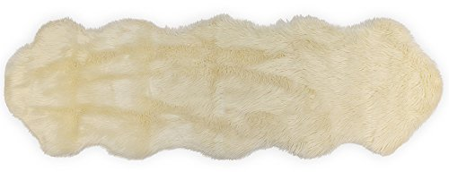 Nouvelle Legende Faux Fur Sheepskin Premium Rug Duo (23 in. X 73 in.) White