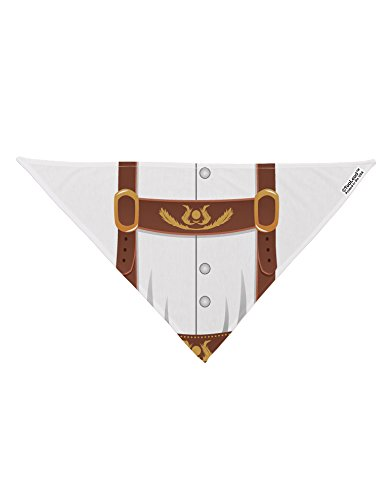 TooLoud Lederhosen Costume Brown Printed White Dog Bandana 26