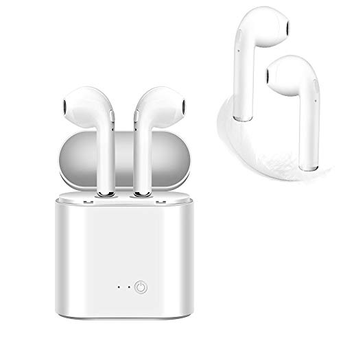 Bluetooth Headset,i7 Wireless Earbuds with Charging Case Mini In-Ear Headphones Earphone with Mic