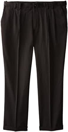 IZOD Men's Big and Tall Ultimate Traveller Pant, Black, 44W x 30L