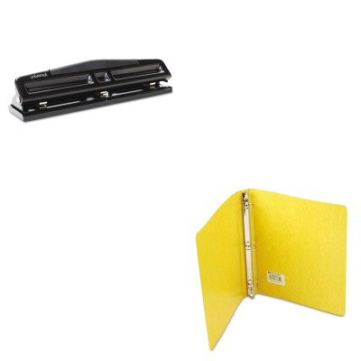 KITACC38610UNV74323 - Value Kit - Acco Recycled PRESSTEX Round Ring Binder (ACC38610) and Universal 12-Sheet Deluxe Two- and Three-Hole Adjustable Punch (UNV74323)