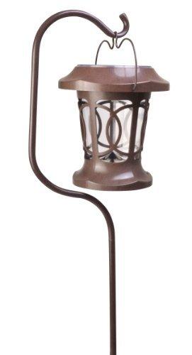 Moonrays 91399 Solar Powered Bradbury Hanging LED Plastic Stake Light, Brown Style: Bradburry, Model: 91399, Home/Garden & Outdoor Store by Garden & Patio