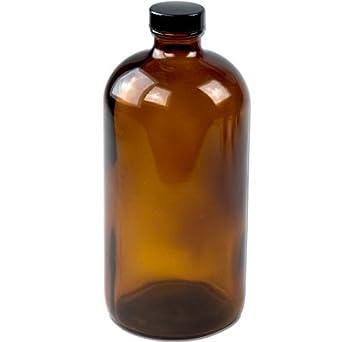 32 oz ámbar Boston redonda botellas de vidrio con tapones de 33/400 P (