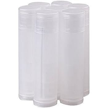 Goege 50/100/200 Pcs Transparent Clear Empty Lip Balm Tubes Containers (50 Pcs)
