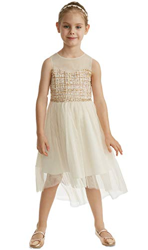 Rare Editions Toddler Girls Boucle Illusion Neck Dress (Ivory, 3T)