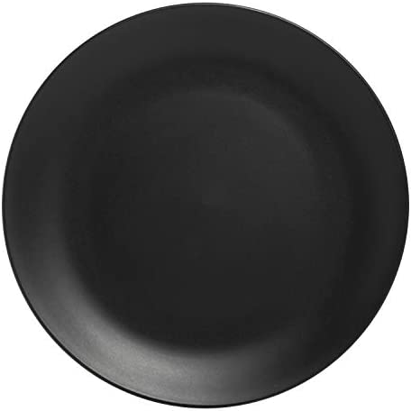 10 Strawberry Street Wazee Matte Coupe Dinnerware Set, 16 Pc, Black