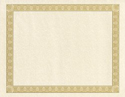 Geographics Parchment Paper Certificates, 8.5 x 11 Inches, Natural Diplomat Border, 50 per Pack (21015)