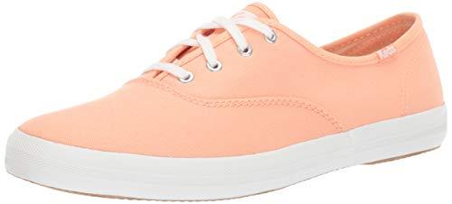 Keds Women's Champion Spring Solids Sneaker, Coral, 8 M US (Keds Orange Women)