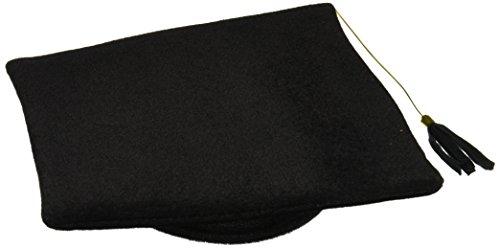 Plush Graduate Cap (black) Party Accessory  (1 count) (1/Pkg)