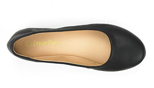 DREAM PAIRS Women's Sole Happy Black Ballerina Walking Flats Shoes - 11 M US by DREAM PAIRS (Image #2)