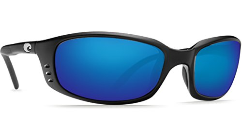 Costa Del Mar Brine Sunglasses BR 11 OBMP Matte Black/Blue Mirror - Costa Mar Del Sunglasses