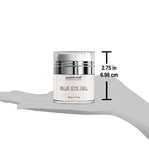 Majestic Pure Blue Eye Gel, Reduces the Appearances of Wrinkles and Dark Circles - Eye Cream Formula for Skin Tone and Resilience - 1.0 fl. oz. by Majestic Pure (Image #7)