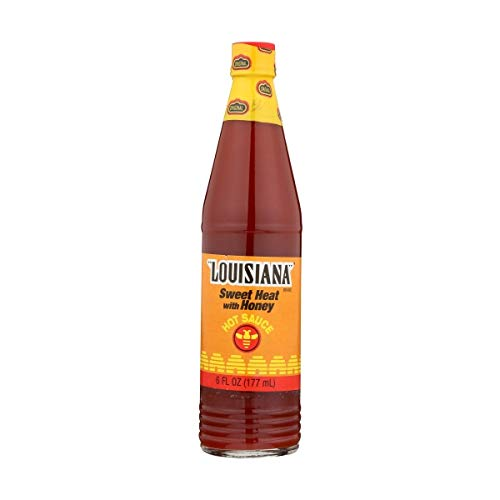 Louisiana Brand Sweet Heat with Honey Hot Sauce - 6 oz. (Pack of 4)