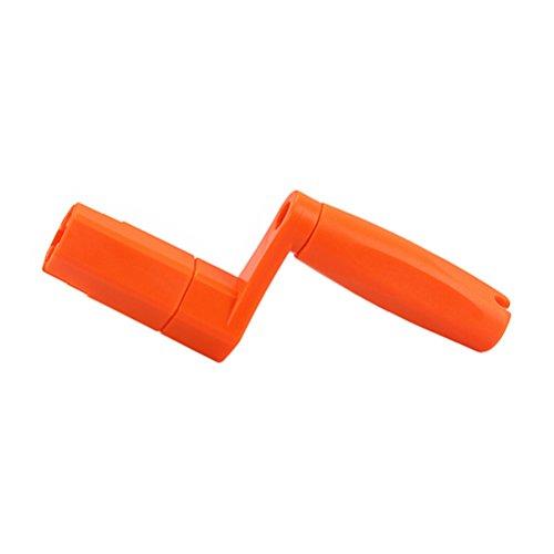 Healifty Guitar Peg String Winder Bridge Pin Puller Drill Hexagonal Remover Drill Bit Adapter for Guitar Bass Banjo Dobro Mandolin Ukulele (Orange)