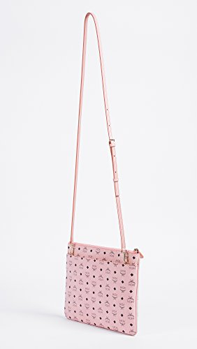 MCM Pink Soft Women's Cross Color Pouch Visetos Body BUxBwgS