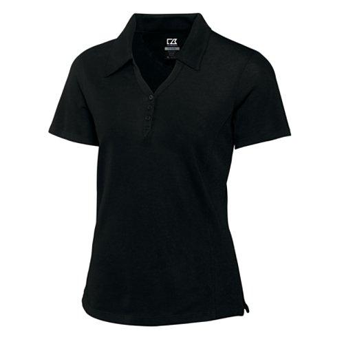 Cutter & Buck Women's DryTec Championship Polo Shirt, Black, (Cutter Buck Golf Clothing)