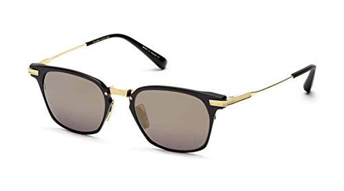 DITA Union//Matte Black-12K Gold Sunglasses w/ Dark Grey-Black Flash-AR ()