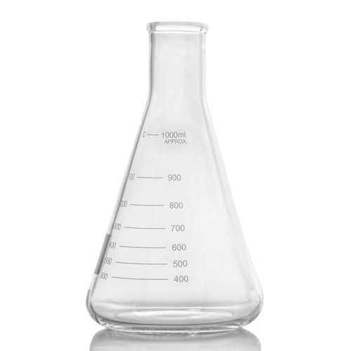 American Labs 2000ml / 2L Narrow Mouth Erlenmeyer Flask with Heavy Duty Rim