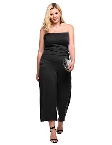 Meaneor Womens Strapless Jumpsuit Pockets product image