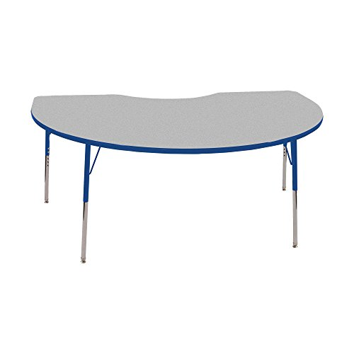 Norwood Commercial Furniture  Adjustable-Height Kidney Activity Table, 72