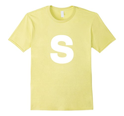 Mens S Candy Easy Halloween Costume T-Shirt Medium Lemon