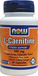 NOW Foods - L-Carnitine 500 mg. - 30 Capsules