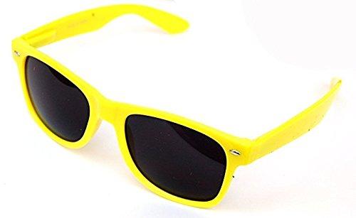 Kids Childrens 80's Classic Retro Sunglasses - Kids Yellow Sunglasses