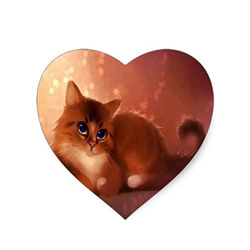 (Cute cat (Heart-Shaped) Mouse Pad 8.6