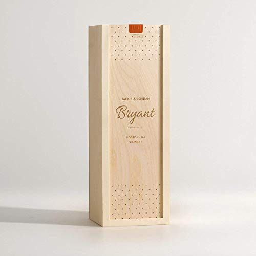 Personalized Wine Box - Chic Toast/Wedding Wine Box/Groomsman Gift/For the Couple