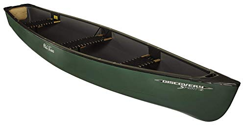Old Town Discovery Sport 15 Square-Stern Recreational Canoe, Green, 15 Feet 3 Inches
