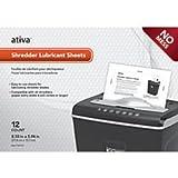Ativa(TM) Shredder Lubricant Sheets, Pack Of 12