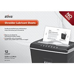 Ativa(TM) Shredder Lubricant Sheets, Pack Of 12