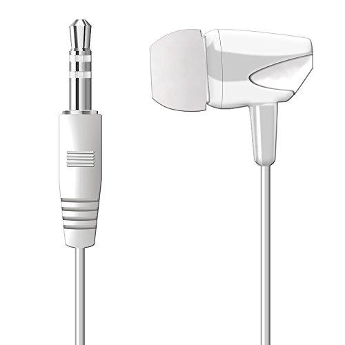 WEUTOP Single Earbud Stereo Headphone [ 3.3ft ] (White)