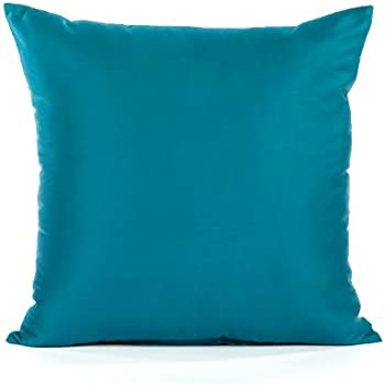 Amazon Com 26 Quot X 26 Quot Sateen Solid Turquoise Teal Blue