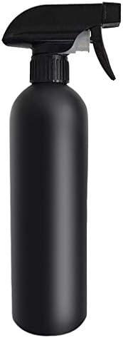 霧吹き スプレーボトル 消毒用 スプレー容器 空容器 500ml アルコールディスペンサー アルコール消毒噴霧器 手指消毒機 詰め替えボトル 軽量 噴霧器 手圧ボトル 消毒剤 アルコール対応 虫除け 液体詰替用ボトル NASHIJP (5PC, ブラック)