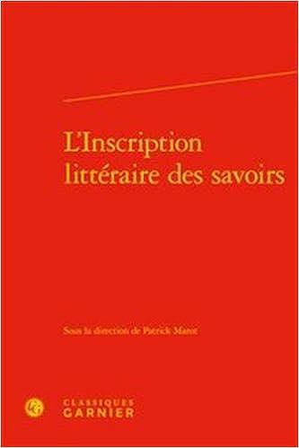 L'inscription littéraire des