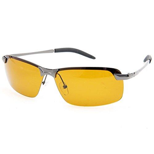 Gafas Lente Conducción de de Conducción de 2 para el Gafas Ncient Lentes sol Polarizadas de Resplandor Nocturna Visión Reducir Amarilla Hombres 4gpqpS