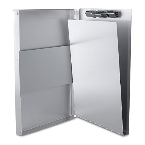 Aluminum Clipboard with Storage Form Holder Portfolio Aluminum Metal Binder Heavy Duty with High Capacity Clip Posse Box - Clipboard for Office Business Professionals Stationer Photo #3