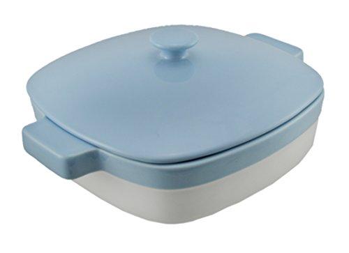 Azure Blue Ceramic (KitchenAid KBLR19CRAZ Streamline Ceramic 1.9-Quart Casserole Bakeware - Azure Blue)