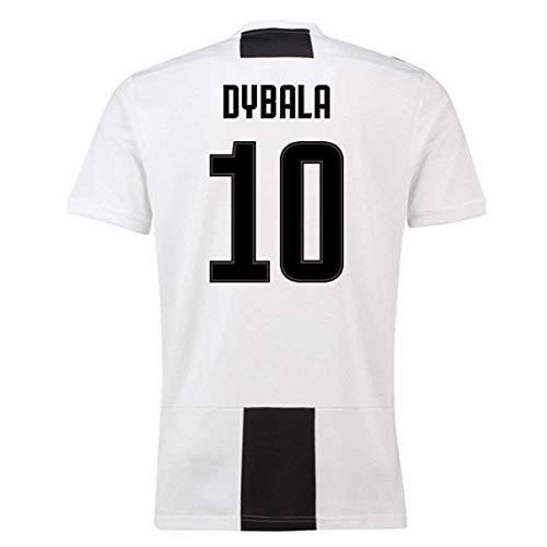 4d0b9396f89 JUJERS  10 Dybala Juventus Home Soccer Jersey 2018-2019 Season Mens  White Black (S)
