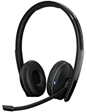 EPOS | Sennheiser ADAPT 261 (1000897) Dual Sided Headset, Wireless, Dual-Connectivity Bluetooth, USB-C Dongle included, UC optimized and Microsoft Teams certified, Black