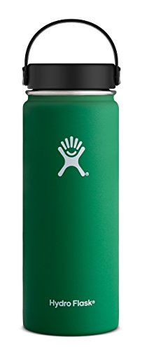 Hydro Flask 18 oz Double Wall Vacuum Insulated Stainless Steel Leak Proof Sports Water Bottle, Wide Mouth with BPA Free Flex Cap, Forest by Hydro Flask