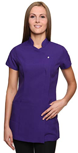 - Mirabella Health and Beauty Clothing Women's Freya Hairdressing Spa Massage Tunic Uniform 20 Violet