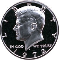 1972 S Gem Proof Kennedy Half Dollar US Coin Half Dollar Uncirculated US Mint (Kennedy Half Dollar Gem Proof)